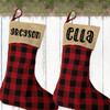 Personalized Christmas Stocking: Perfectly Plaid Country - Rustic Farmhouse Holiday Decor