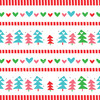 Printable Care Package Sticker Kit: Mod Christmas Rainbow (Instant Download)