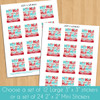 Personalized Ho Ho Holiday Christmas Gift Labels