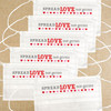 Disposable Face Mask Set: Classic Valentines Day Spread Love Not Germs - Kids & Adult Masks