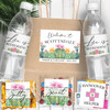 Personalized Wedding Guest Hotel Welcome Bag & Favor Label Kit: Cactus Water Bottle Labels, Candy Stickers, Hangover Kit Stickers