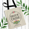 Succulent Bachelorette Party Tote Bags - Personalized Bride Tribe Bridal Party Gift Bags