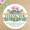 "Personalized Wedding Favor Labels - Succulent + Cactus Floral Wedding - 2"", 2.5"" and 3"" Round Favor Stickers"