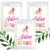Fiesta Party Party Favors - Adios Germs Hand Sanitizer Wipe Packets