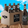 Personalized Cheers to the Years Custom Birthday Brew Beer Labels and Carrier