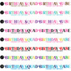 Disposable Face Mask Birthday Squad Design Colors  - Joy & Chaos