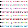 Multicolor Birthday Squad + Birthday Babe Shirts (More Colors!)