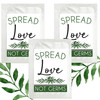 Spread Love Leaf Greenery Hand Sanitizer Wipe Packet Favors