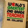 Personalized World's Greatest Second Grade Teacher Notebook