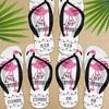 Personalized Deco Flamingo Flip Flops  - Custom Womens and Girls Sandals