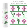 Personalized Cactus Hangover Recovery Kit Lip Balm Favors