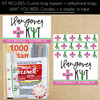 Personalized Cactus Hangover Recovery Kit Favor Bags