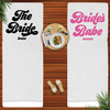 Retro Bridal Party Personalized Beach Towels for Bridesmaids and The Bride