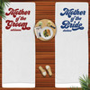 Retro Bridal Party Personalized Beach Towels for Mother of the Bride and Mother of the Groom