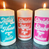 Retro Bridal Party Personalized Candles for Bridesmaid, Maid of Honor, Bride's Babe