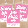 Retro Bride's Babe Personalized Bachelorette Party Luggage + Bag Tags