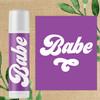 Retro Bride + Babe Lip Balm for Bridal Shower or Bachelorette Party