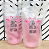 Deco Flamingo Custom Drink Pouches - Let's Flamingle Party Adult Juice Pouch