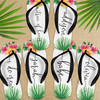 Tropical Floral Bridal Party Flip Flops for Bridesmaids, Maid of Honor - Beach Wedding Party Custom Sandals