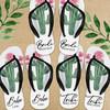 Personalized Succulent Cactus Bridesmaid Flip Flops  - Custom Bridal Party Sandals for Scottsdale Bachelorette, Cactus Bridal Shower, Desert Wedding