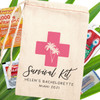 Pretty in Pink Survival Kit Bags for Bachelorette Party or Adult Women's Birthday