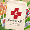 Classic Cross Personalized Hangover Survival Kit Bags for Camping Bachelor Party or Birthday