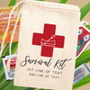 Classic Cross Personalized Hangover Survival Kit Bags for Lake Bachelor Party or Birthday