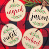 Holly Personalized Wood Christmas Ornament - Rustic Wooden Holiday Ornaments with Names