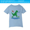 Green Dino On Blue T-Shirt (18M, 24M, 2T, 4T, 5/6 and Size 7)