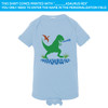 Green Dino On Blue One-Piece (6M or 12M)