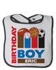 Personalized First Birthday Bib MVP Sports Blue