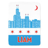 Personalized Chicago Style Blanket