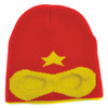 Neon Eaters Super Hero Knit Beanie Red
