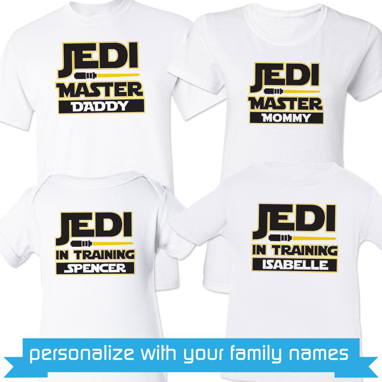 8a15df75e489 Personalized Jedi Family Shirts