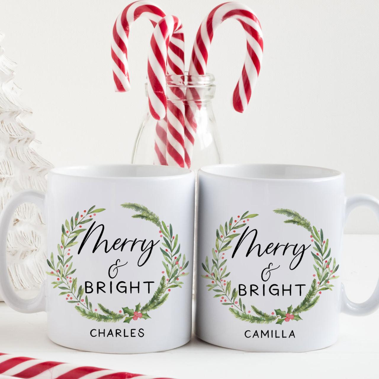 Personalized Merry Bright Christmas Mug