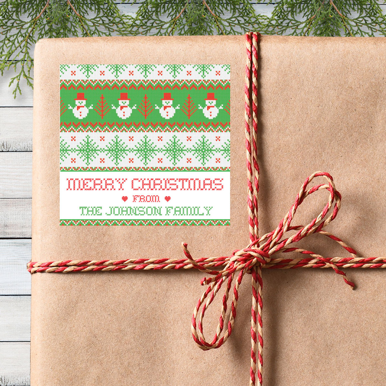 Personalized Christmas Gift Stickers