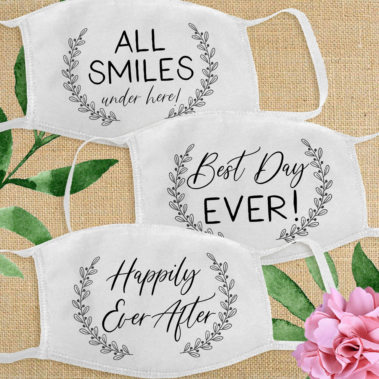 Custom Cotton Face Mask Happily Ever After Party More Styles