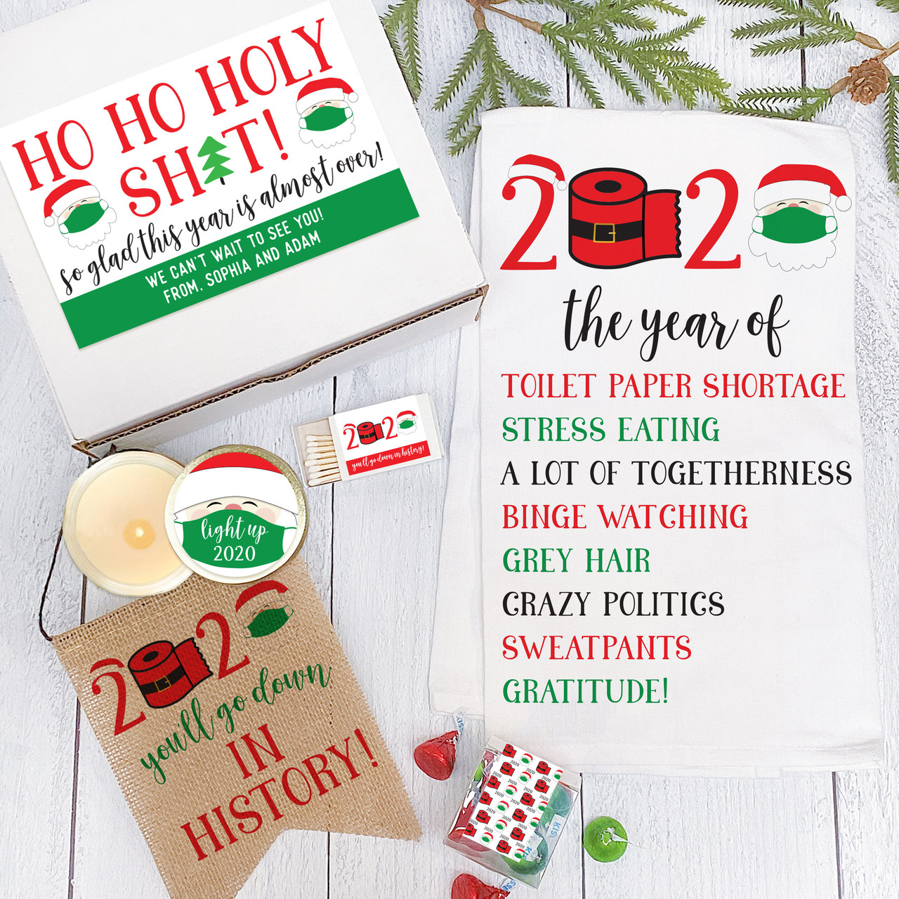 2020 Christmas Gift Box Personalized Ho Ho Holy Shit Gift Box   2020 Christmas Care