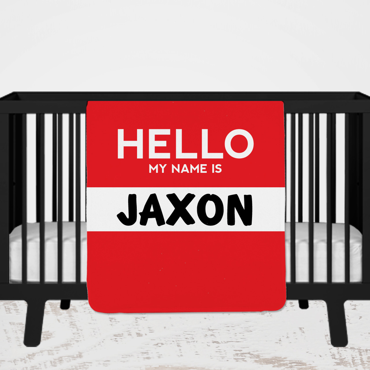 Personalized Hello My Name is Blanket
