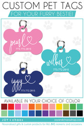Custom Pet Tags for Your Furry Best Friend