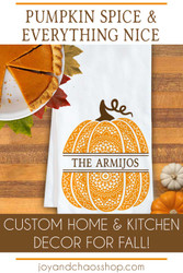 Custom Pumpkin Autumn Home Decor