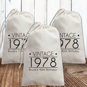 Adult Birthday Favor Bags and Totes