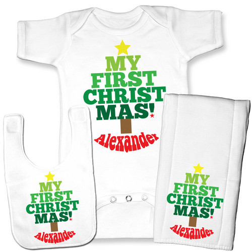 My Christmas Gifts: Personalized My First Christmas Gift Set