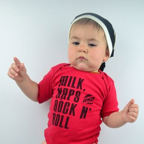 Milk, Naps, and Rock N Roll Baby Shirt