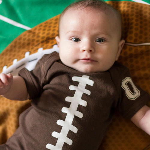Personalized Football Belly Baby Shirt