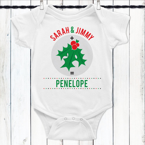 Personalized Under the Mistletoe Baby Shirt