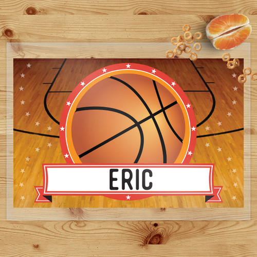 Personalized Classic Basketball Laminated Placemat