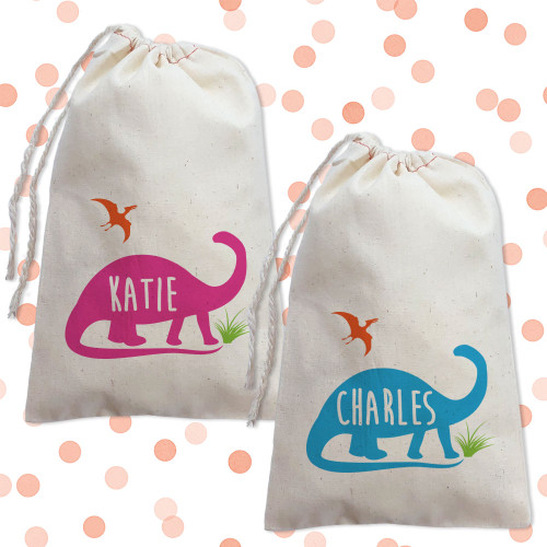 Personalized Party Favor Bag: Dinosaur