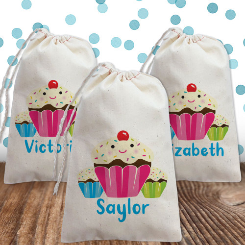 Personalized Party Favor Bag: Sweet Sprinkle Cupcake