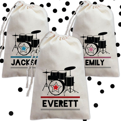 Personalized Party Favor Bag: Drum Superstar